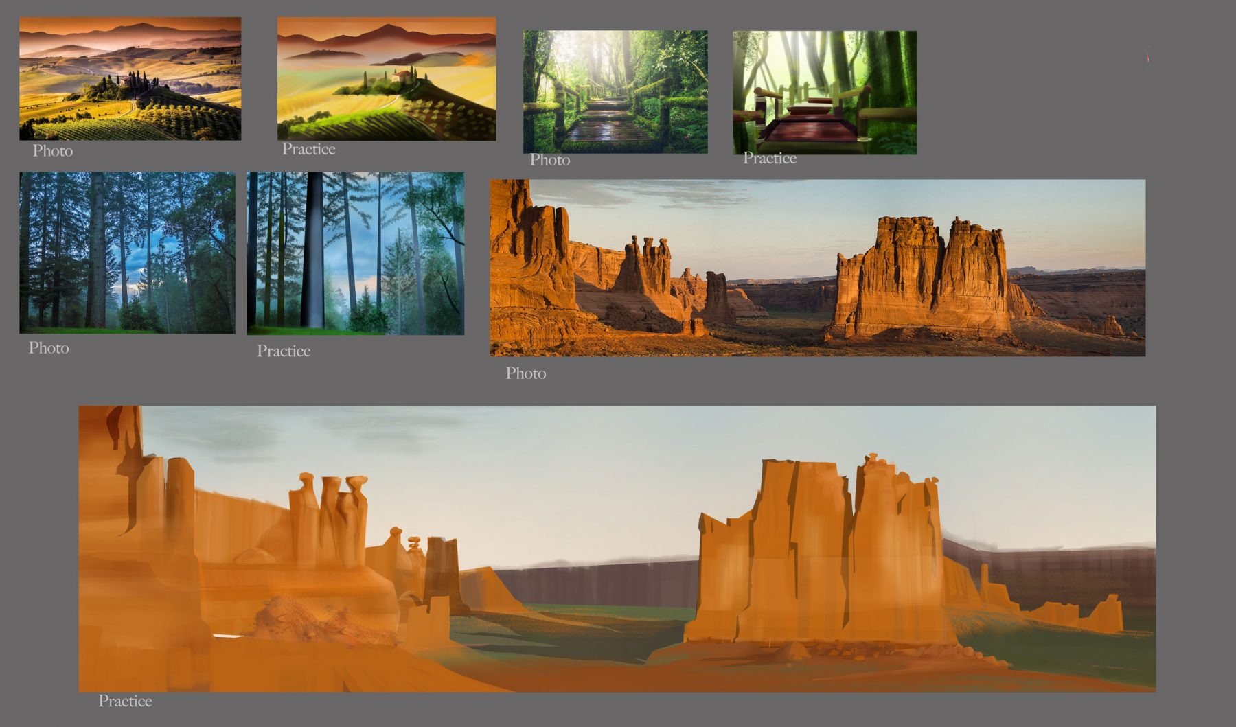 Some color studies. When I have time I like to practice my environments and play with color.